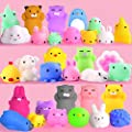 Mochi Squishy Toys FLY2SKY 30Pcs Animal Squishies Party Favors for Kids Stress Relief Toys Kawaii Animal Stress Toys Cat Stress Reliever Squishy Toys Mini Novelty Gifts Seal Rabbit Cat Random Squishys by FLY2SKY