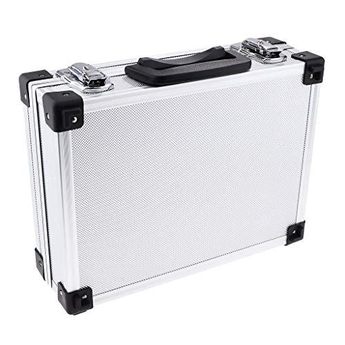 Tubayia Mallette à outils portable en aluminium pour maquilleurs, coiffeurs, stylistes, etc. (Argent)
