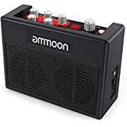 ammoon Guitar Amp POCKAMP 5 Watt Portable Guitar Amplifier Amp Built-in Multi-effects 80 Drum Rhythms Support Tuner Tap Tempo Functions with Aux Input Headphone Output, Power adapter included