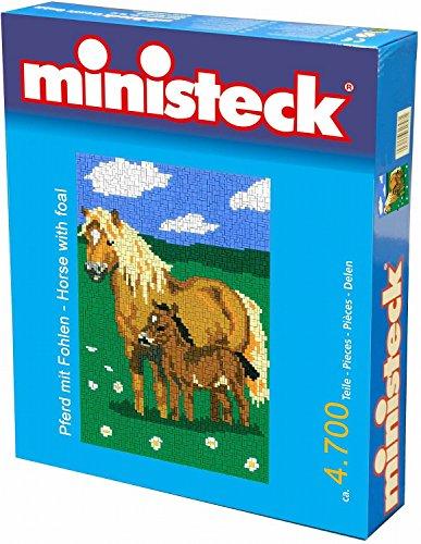 Ministeck 31314 - Pferd mit Fohlen Steckplatten, ca. 4000 Steine und Zubehör
