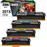 Cool Toner Compatible for HP 207X 207A Toner Cartridge Replacement for HP Color LaserJet Pro MFP M283fdw...