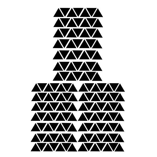 147 pegatinas de vinilo con forma de triángulo, extraíble,