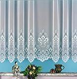 heimtexland Gardine, Vorhang, Store weiß aus hochwertigem Jacquardstore mit transparentem Oberstoff und Kräuselband, H X B 160 X 300 cm Typ10
