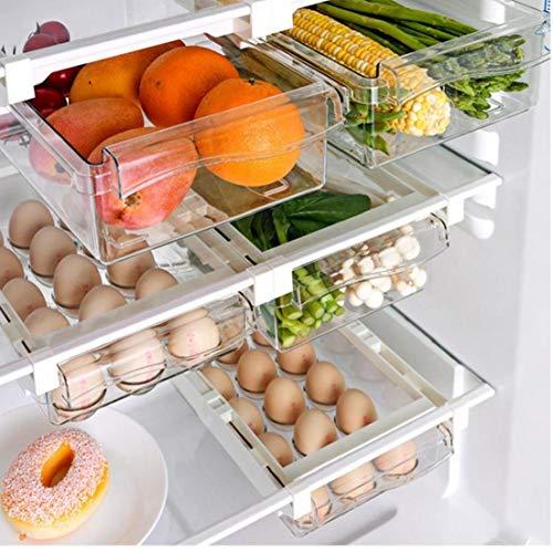 Frigorífico Estantes Colgantes Del Cajón De Almacenamiento Caja De La Fruta Del Alimento Almacenamiento De Huevos Caja De Refrigerador Del Refrigerador Soporte De Almacenamiento En Rack Caja De