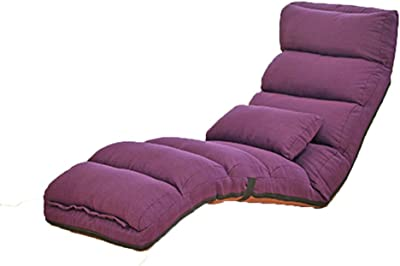フロアチェア 調節可能な床の椅子怠惰な椅子のリクライニングチェア無床の椅子ゲーム日本語の床の椅子175 cm 怠惰な椅子 (Color : A)