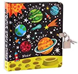 MOLLYBEE KIDS Outer Space 6.25' Lock and Key Diary for Boys and Girls, 208 Lined Pages