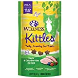 Wellness Kittles Grain-Free Duck & Cranberries Recipe Crunchy Cat Treats, 2 Ounce Bag