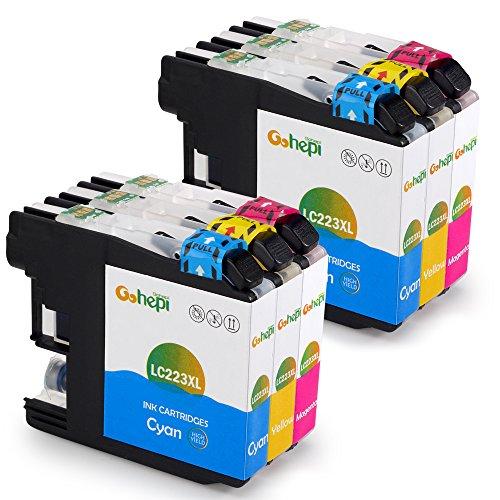 Gohepi Ersatz für Brother LC223 Farbe Druckerpatronen Kompatibel für Brother DCP-J4120DW MFC-J5320DW DCP-J562DW MFC-J880DW MFC-J5620DW MFC-J680DW MFC-J4625DW MFC-J5720DW J4420DW J4620DW J4625DW