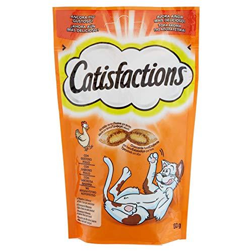 Catisfaction Premios para Gatos, Sabor Pollo, 60g