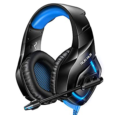 RUNMUS Gaming Headset PS4 Headset with 7.1 Surround Sound by