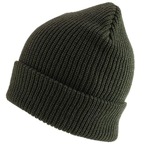 Trendy Apparel Shop Strickmütze/Beanie-Mütze, Übergröße, einfarbig - Grün - XX-Large