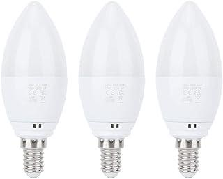 Bombilla inteligente E14 con vela LED de la familia Wifi Rgb 5 W compatible con Alexa y Google ahorro de energía, bombilla de vela súper brillante (3 unidades)