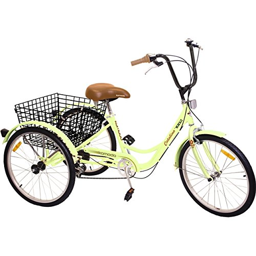 Komodo Cycling 24', 6-speed Adult Tricycle #7002 - Catalina (85% Preassembled + 1 Year Warranty)