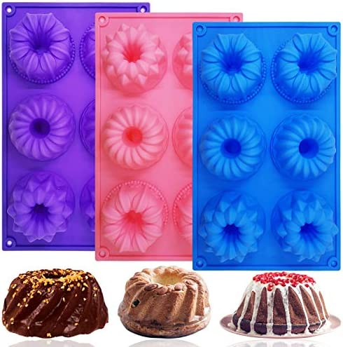 3 PCS Silicone Cake Moulds FineGood Doughnut Maker Silicone Baking Tray Cupcake Muffin Molds product image