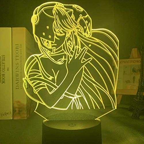 Acryl LED Nachtlicht Lampe Anime Elfen Lied Lucy Nyu Figur Schreibtisch 3D Lampe für Kinder Kinderzimmer Dekorative Nachtlicht Manga Geschenk, 16 Farben