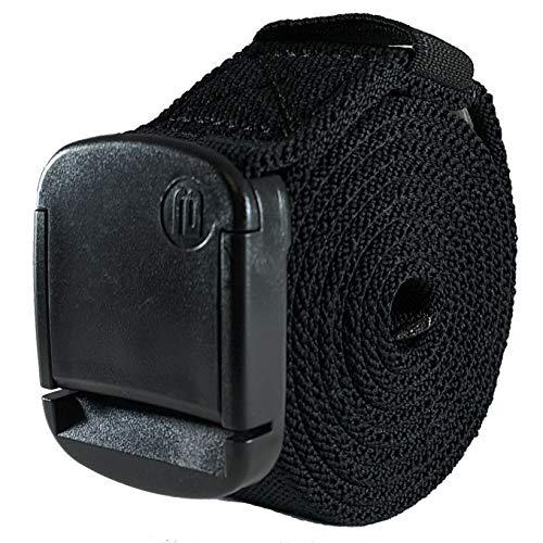 BETTA Wear Cinturón elástico de 3,2 cm con hebilla ajustable, unisex