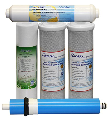 Puroflo 5-Stage Under Sink Reverse Osmosis Annual Replacement Filter Kit