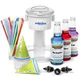 Hawaiian Shaved Ice Snow Cone Machine 3 Flavor Kit