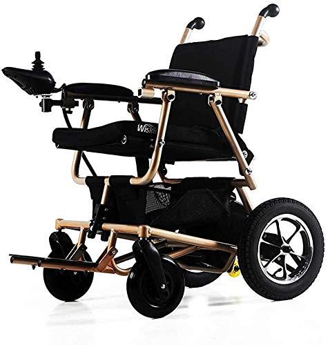 QUETAZHI Silla de ruedas eléctrica plegable de las personas mayores con discapacidad (1020 kilometros batería de litio) 360 es ligero y compacto Energía Eléctrica palanca Sillas de ruedas for personas