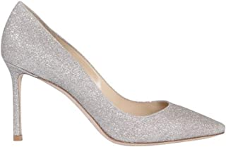 JIMMY CHOO Luxury Fashion Womens ROMY85DGZPLATINUMICE Silver Pumps | Season Permanent