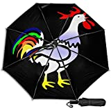 Pengfly Paraguas de aves de corral de color gallo plegable de aves de corral paraguas de pavo para pájaros, uso a prueba de viento, ligero para lluvia al aire libre