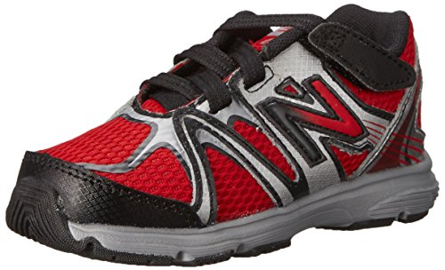 New Balance New Balance KV697 Infant Hook and Loop Running Shoe (Infant/Toddler), Red/Black, 17 M EU