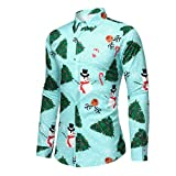 Kobay NoëL Homme Pull Imprimé CréAtif Col Rond Pull Homme Manches Longues DéContracté Pullover Slim Pas Cher à La Mode Fashion Sweater M-3XL
