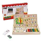 BBLIKE Juguetes de Madera Niños, Tablero Montessori Reloj Pintura Números Apilamiento...
