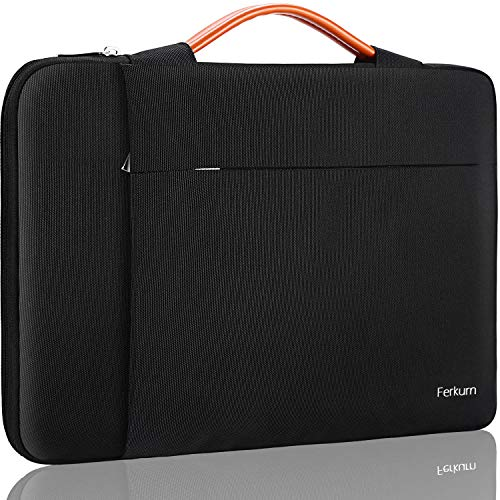 Ferkurn 11.6 Inch Laptop Sleeve Chromebook Bag Carrying with Handle Compatible with Chromebook R11, Mac Air 11 inch, MacBook Pro 13 inch, Chromebook 3100, Waterproof computer case with Pocket, Black