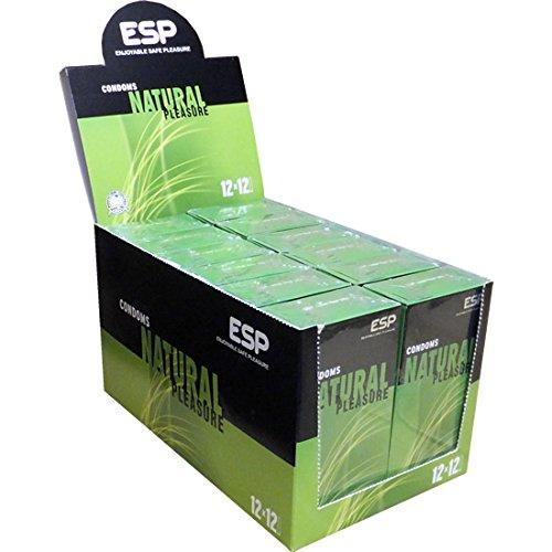 ESP Natural, 12x12 natuurlijke condooms, veganistisch gemaakt, speciale aanbieding