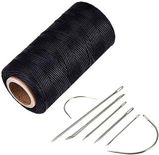YCNK 260 Meter 1mm 150D Leder gewachst Wachs Thread Cord Handwerk für DIY Leder Hand Stitching Stitching schwarz