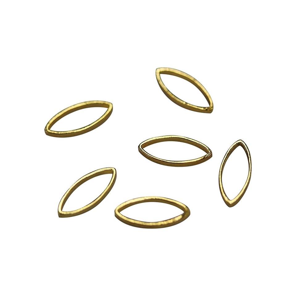 カール意識的等々Bonnail×RieNofuji Loop leaf S ゴールド