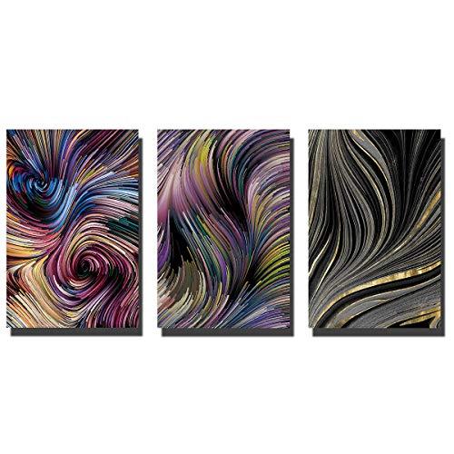 Paintngs | Pintura abstracta | Impresiones sobre lienzo | Pinturas impresas | Pinturas decorativas | Pintura para decoración del hogar | Pinturas de estudio 3 piezas 40 x 60 cm C-C001-7