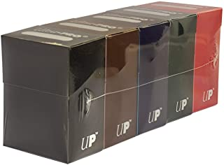 Set of Five New Ultra-Pro Deck Boxes (Dark Colors Incl. Black, Blue, Brown, Green, and Red) for Magic/Pokemon/YuGiOh Cards