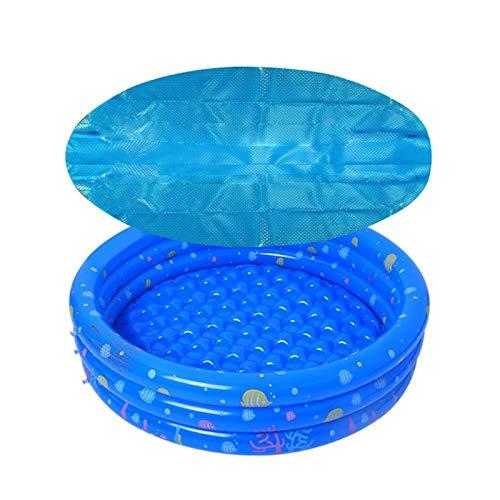 bache bulle piscine, bache solaire piscine ronde, Housse de protection solaire pour piscines gonflables(Piscine non incluse) Bleue