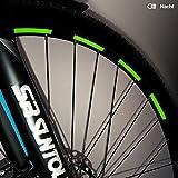Motoking Fahrrad-Reflektorenaufkleber - Grün - 26 Aufkleber im Set -