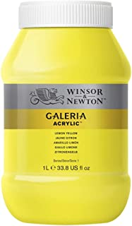 Winsor & Newton Tinta Acrílica Galeria W&N 1 Litro 346 Lemon Yellow