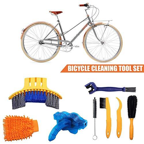 8 stuks fiets-reinigingsset fiets-kettingfilterkits fietsreiniger gereedschapsset bandpenseel kettingen wash remschijf reiniger voor montage bike vouwfiets