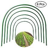 F.O.T 6Pcs(25.6' x 23.6')Greenhouse Hoops,PlantSupportGardenStakes, Rust-Free GrowTunnel 4.9ft LongSteelwithPlasticCoatedSupportHoopsFrameforGardenFabric, PlantSupportGardenStakes