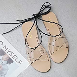 8714d325dd XIGUALIANGXIE Sandalias De Mujer Correa Verano Sandalias De Plástico  Transparente De Hadas De Fondo Plano Roma
