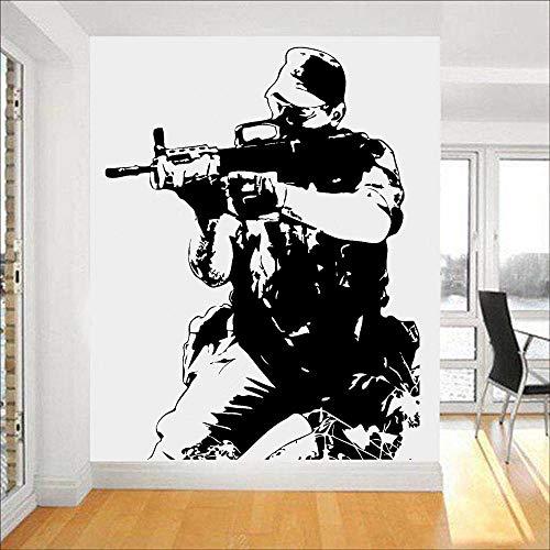 HGFDHG Soldado Pegatina de Pared ejército Guerra Guerra garantía de Calidad Vinilo Pared calcomanía Empresa Oficina Ventana Puerta decoración