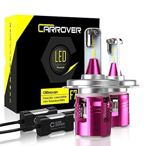 CAR ROVER Bombillas H4 LED 10800 lm faros delanteros y luces de cruce, kit de sustitución para halógeno Xenon Luci-12 V-24 V lámpara 6000 K blanco