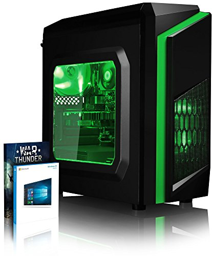 VIBOX FX 27 PC Gaming Computer con War Thunder Voucher di Gioco, Windows 10 OS (3,6GHz Intel i3 Quad-Core Processore, Radeon RX 560 Scheda Grafica, 8GB DDR4 2133MHz RAM, 1TB HDD)