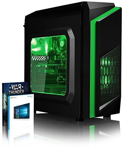 Vibox FX 169 PC Gaming Computer con War Thunder Voucher di Gioco, Windows 10 OS (3,6GHz Intel i3 Quad-Core Processore, Nvidia GeForce GTX 1050 Ti Scheda Grafica, 8GB DDR4 2133MHz RAM, 1TB HDD)