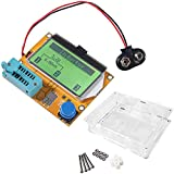 Multifunction Meter DIY kit, ACEIRMC Mega 328 Graphic Transistor Tester, NPN PNP Diodes Triode Capacitor ESR SCR MOSFET Resistor Inductance LCD Display Checker with case