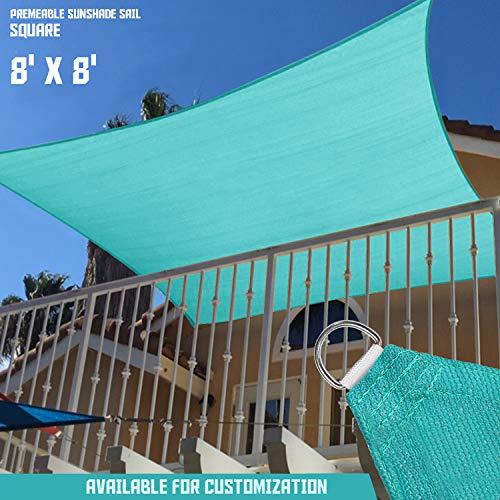 SONNENSCHIRME Depot Sun Segel Rechteck wasserdurchlässig Himmel Benutzerdefinierte Größe erhältlich Commercial Standard