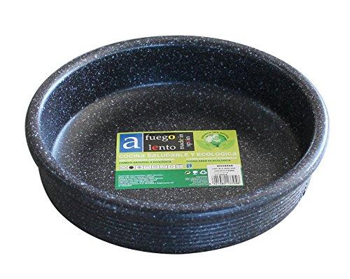A Fuego Lento Cazuela Horno Piedra, Barro, Negro Granito, 25 cm