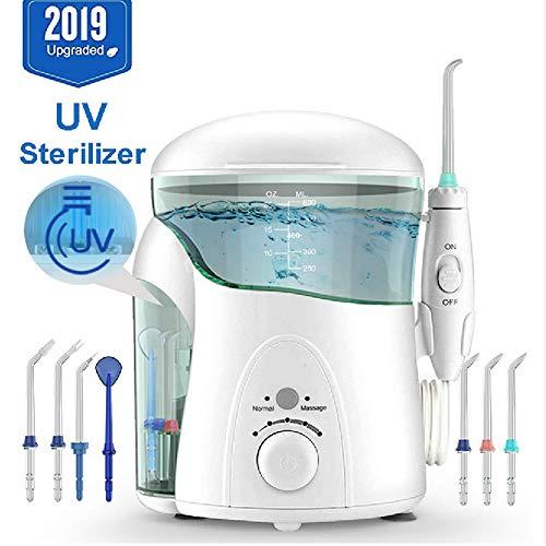 RBTT Mundspülvorrichtung 5 Arten von Düsen 600ML Wassertank Tooth Cleaner Stufenlos Druckschutz Zahnpflege IPX7 Wasserdichten UV-Desinfektions Flusher