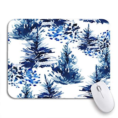 Gaming mouse pad aquarell weihnachtsbaum winter tanne wald und aquarell pinsel rutschfeste gummi backing computer mousepad für notebooks maus matten