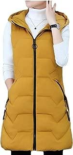 Women's Coat Down Vest Quilted Hooded Coats Long Waistcoat Jacket